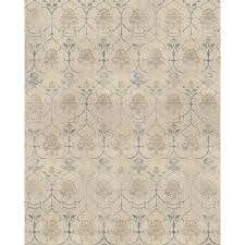 ruggable washable cream indoor outdoor distressed area rug common 8 x 10