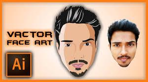 ilrator tutorial vector face art using pen tool sd art