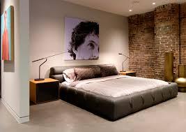 bedroom loft design. image source interior with minimalist furniture and concrete flooring brick walls modern loft design ideas bedroom