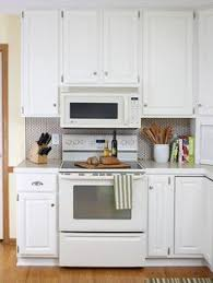 small white kitchens with white appliances. Backsplash Ideas, Kitchen Appliances White Penny Tile NB Low Microwave Small Kitchens With T