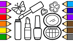 Coloring Lipstick Makeup Coloring Pages For Girls Learn To Color