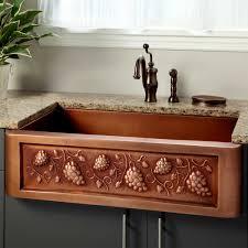 33 tuscan series copper farmhouse sink