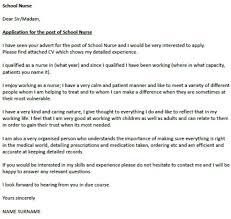 Cover Letter : School Nurse Cover Letter Samples - School Nurse ...