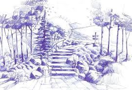 landscape architecture blueprints. Brilliant Architecture Landscape Architecture Sketches Go Back Gt Gallery For  Architectural Drawings Intended Blueprints