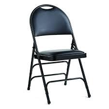 vinyl folding chairs. Samsonite Comfort Series Black Vinyl Padded Metal Folding Chairs (SM-57314-1050)
