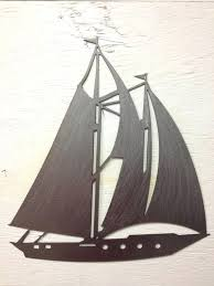 sailboat metal wall art metal sailboat silhouette wall hanging x sailing metal wall art