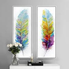 modern canvas art. Color-feather-hand-painted-canvas-art-print-modern- Modern Canvas Art A
