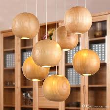 wood pendant light fixture modern led wood chandelier creative wooden small ball pendant lights wood pendant