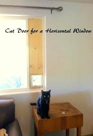 diy cat door for window down to earth cat door horizontal sliding window for prepare diy