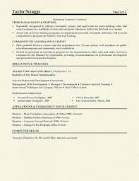 Firefighter Resume Templates Awesome Fireman Resume Example