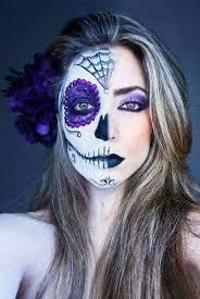 half skull makeup candy skull makeup sugar skull makeup half face