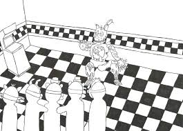 Fnaf Coloring Pages Bonnie Five Nights At Toy By On Fnaf Spring
