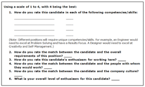 interview assessment form template interview evaluation form talentron