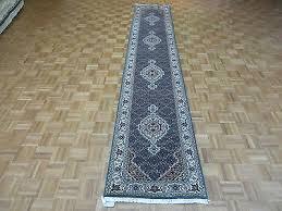 details about 2 6 x 13 8 runner hand knotted blue mahi tabriz oriental rug wool silk g4038