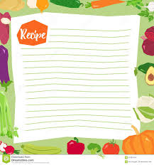 Recipe Blank Template Recipe Blank Template Vector Stock Vector Illustration Of Cooking