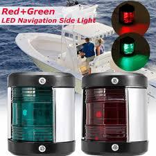 Red Side Light On Boat Best Price 2pcs Stainless Steel 12v Led Bow Navigation Light