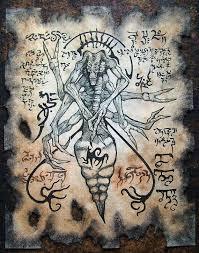 spider demon cthulhu necronomicon fragment sword and sorcery dark art larp monster on etsy 10 00