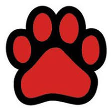 bulldog paw print outline.  Outline Paw Red Paw  599  Got Toast Natural Dog Treats And On Bulldog Print Outline