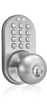 keyless entry door lock with rf remote control and electronic digital keypad