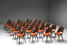 Large Set of Twenty-Four <b>Bentwood Dining Chairs</b> with Coral ...