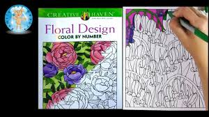 Creative Haven Floral Design Color By Number Coloring Book Creative Haven Floral Design Adult Coloring Book Review Purple Flowers Family Toy Report