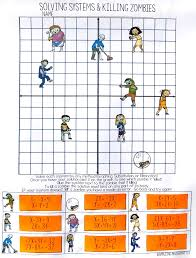 this systems of equations zombie activity would be perfect for my algebra students i love that is self checking and my students will love the zombies