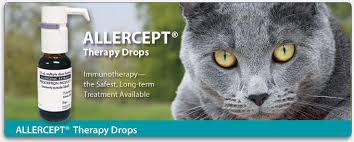 New ALLERCEPT® Allergy Therapy Drops for dogs, cats, and horses.   Heska