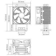 cooler master hyper t measurement diagram