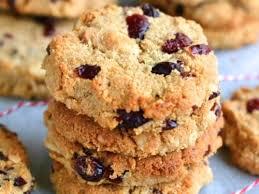 paleo macadamia cranberry cookies