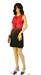 Jay Godfrey Size Chart Jay Godfrey Pink Black Ombre Fuchsia Ruffle Sleeveless Silk Above Knee Night Out Dress Size 4 S 74 Off Retail
