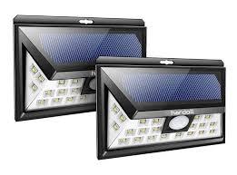 hardoll 24 led solar motion sensor light for home garden outdoor security light