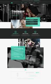 gym website design personal trainer websites templates mobile responsive designs