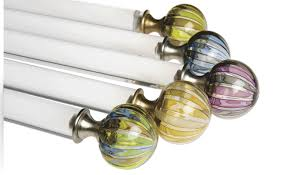 Adelaide Mercury Glass Curtain Rod Finial For 2 14 Wood Drapery Pertaining  To Glass Finials For Curtain Rods With Regard To Your House Living:  Decorative ...