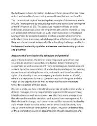 sample essay on understanding leadership styles such affects 4 the