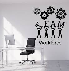 office wall stickers. Team Business Work Wall Sticker Vinyl Decals Teamwork Office Interior Decoration Creative Black Art Decal Stickers N