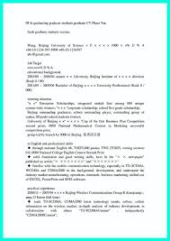 Best Resume Format For Recent College Graduates 9 10 Example Resume Recent College Graduate Samples