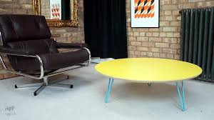 flote round hairpin leg coffee table