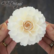 Small Paper Flower Templates Or Signature Classic Dahlia Small Paper Flower Template One Of Our