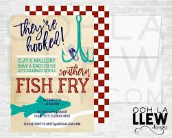 Fish Fry Engagement Party Invite Fish Fry Couples Shower