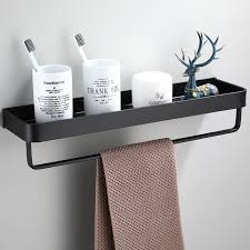 bathroom shelves black bath shower