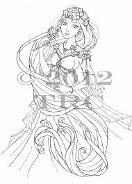 Small Picture Anime Princess Coloring Pages PdfPrincessPrintable Coloring
