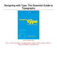 Designing With Type The Essential Guide To Typography Pdf E P U B Pdf Designing With Type The Essential Guide To