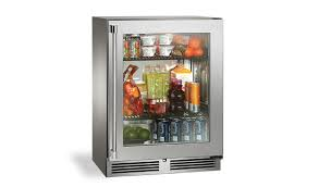 perlick 24 signature series sottile outdoor refrigerator with stainless steel glass door hinge right