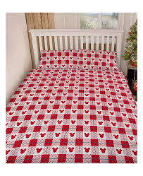 mickey and minnie mouse romance king size duvet cover set