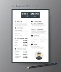 Clean Modern Resume Clean Modern Design Template Of Resume Or Cv Vector Premium Download
