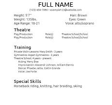 Resume Examples Skills Resume Templates Skills Beginner Acting ...