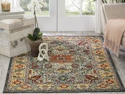 nourison aria beige red yellow green rectangular area rug nrar001multi
