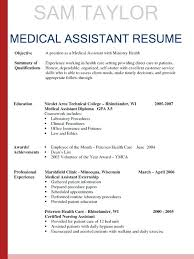 Medical Assistant Resume Objective Examples Enchanting Medical Assistant Resume Template Sample Resume Medical Assistant
