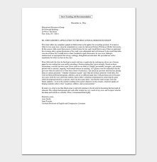 Format Letter Of Recommendation Academic Promotion Request Letter 12 Sample Letters Format