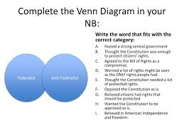 Federalist And Anti Federalist Venn Diagram Ppt Federalists V Anti Federalists Powerpoint Presentation Id